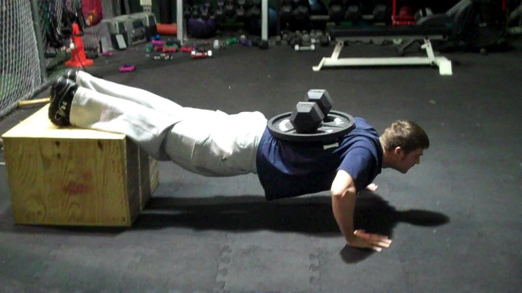Push-ups with Weights: