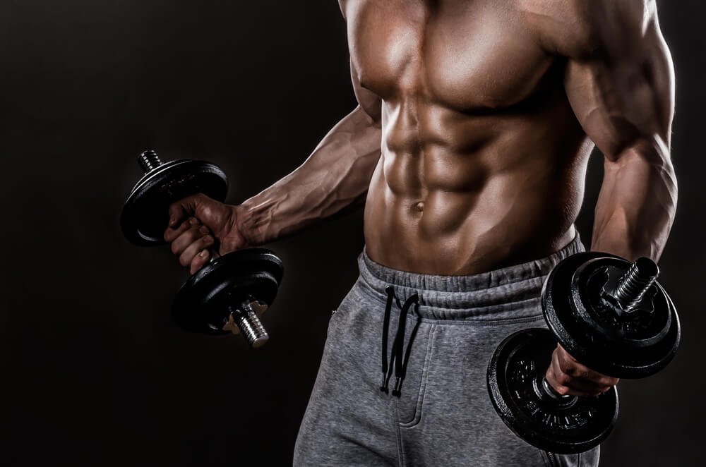 For the greater density of biceps muscles do these exercises: