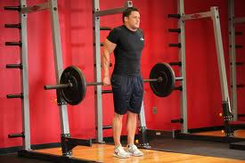 behind the back barbell shrugs a