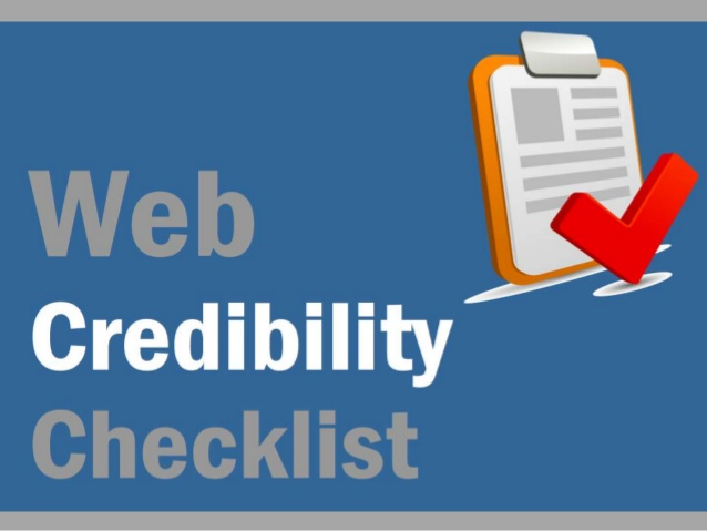 Check on the Credibility of a Site
