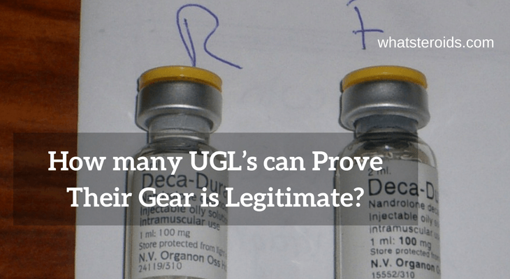 How many UGL's can Prove Their Gear is Legitimate?