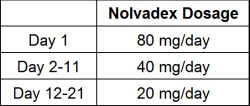 Nolvadex use during Post Cycle Therapy