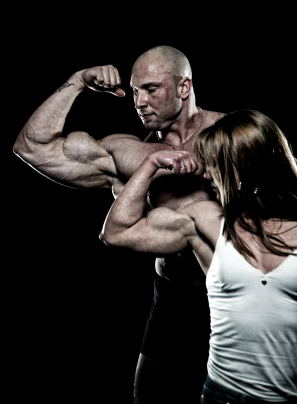 men & ;women bodybuilding