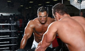 Bodybuilder Dan Decker Working Out In The Gym