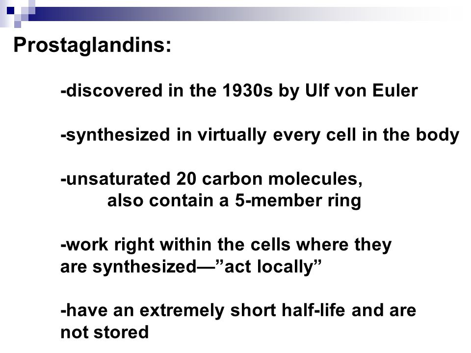 Prostaglandins Discovered In the Year of 1930